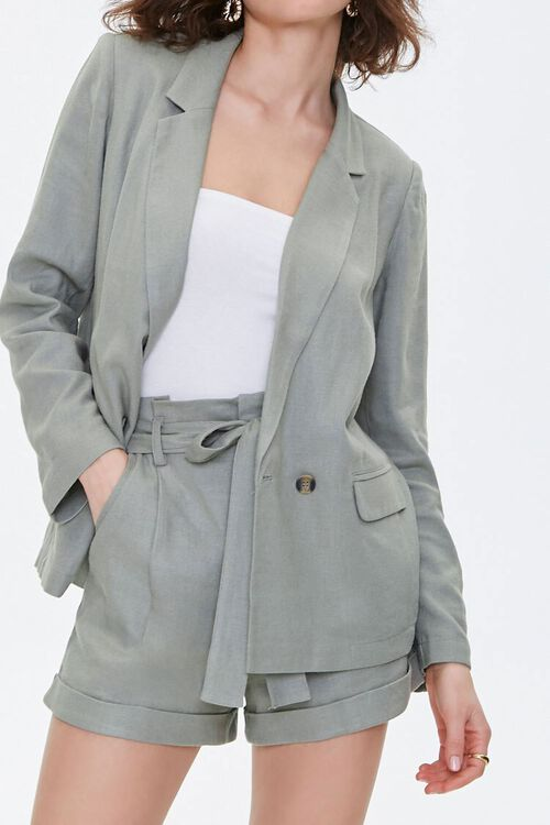 Double-Breasted Linen Blazer, image 6