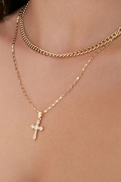 GOLD Chain Necklace Set, image 1