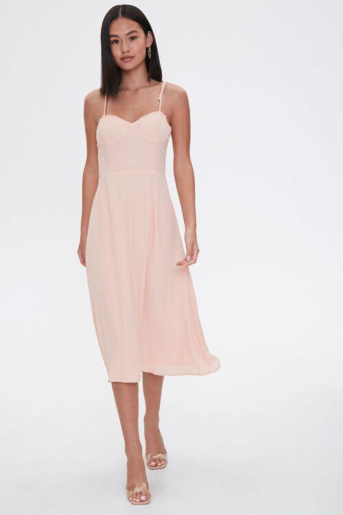 PEACH Tie-Strap Sweetheart Dress, image 4