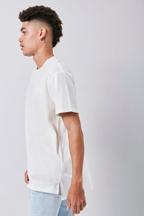 Vented High-Low Crew Neck Tee, image 2