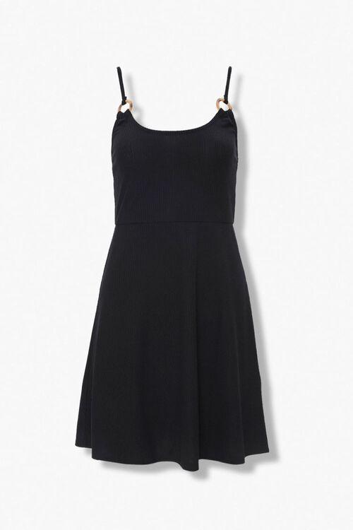 Ribbed Knit Skater Dress, image 1