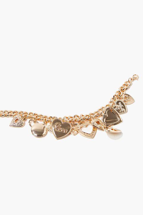 Heart Charm Chain Bracelet, image 2