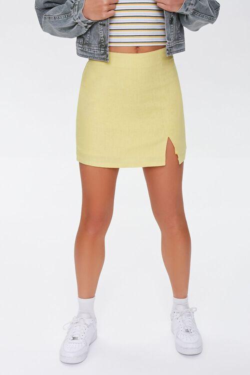 Linen-Blend Mini Skirt, image 2