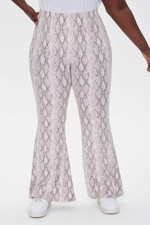 Plus Size Jordyn Snake Print Flare Pants, image 2