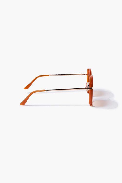 RUST/RUST Oval Metal Sunglasses, image 4