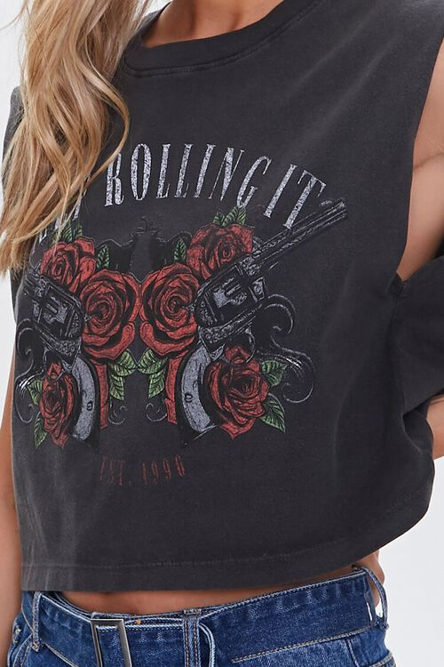 Keep Rolling It Graphic Muscle Tee, image 5