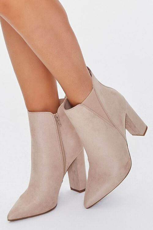 Faux Suede Pointed Toe Booties, image 5