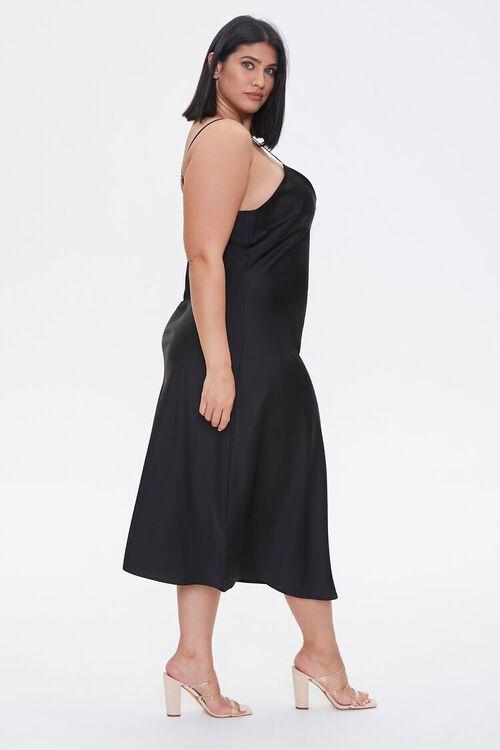 Plus Size Satin Midi Slip Dress, image 3