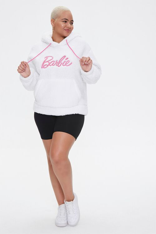 Plus Size Faux Shearling Barbie™ Hoodie, image 4