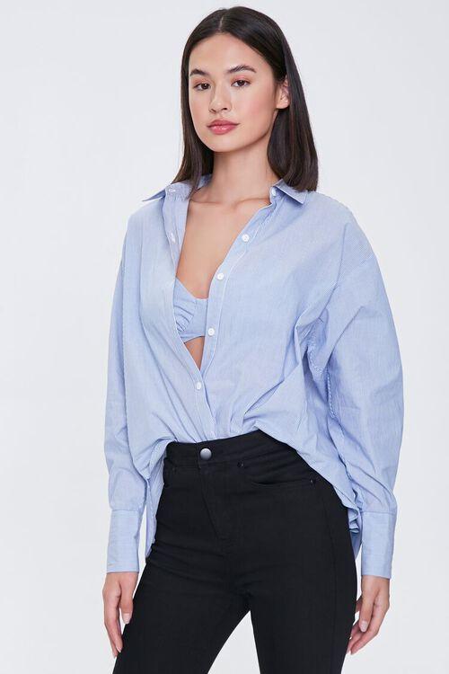 Pinstriped Bralette & Shirt Set, image 5