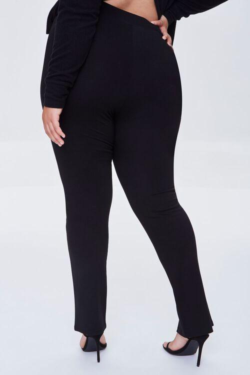 BLACK Plus Size Split-Hem Pants, image 4