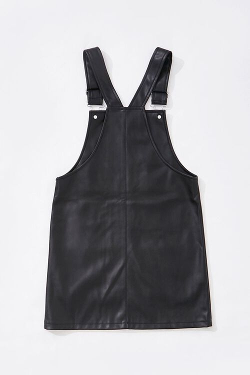 Girls Faux Leather Overall Dress (Kids), image 2