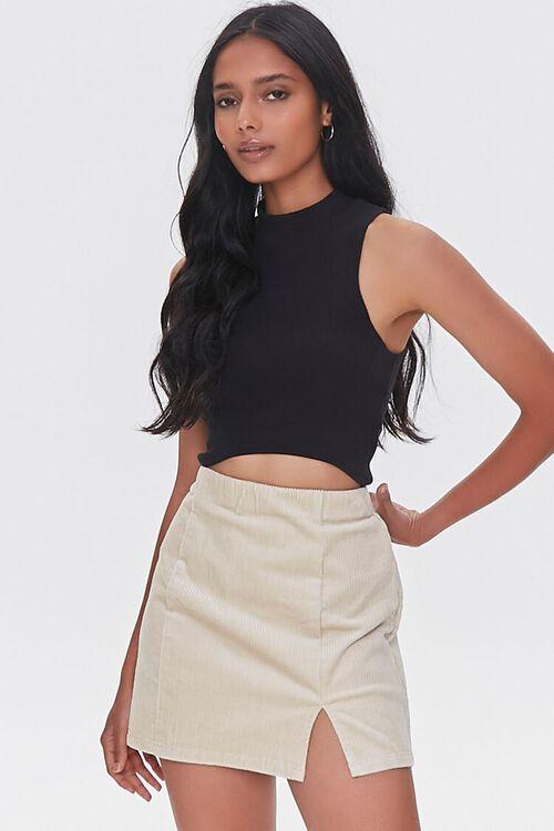 CREAM Corduroy Mini Skirt, image 1