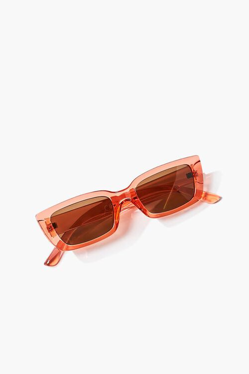 Semi-Translucent Rectangle Sunglasses, image 4