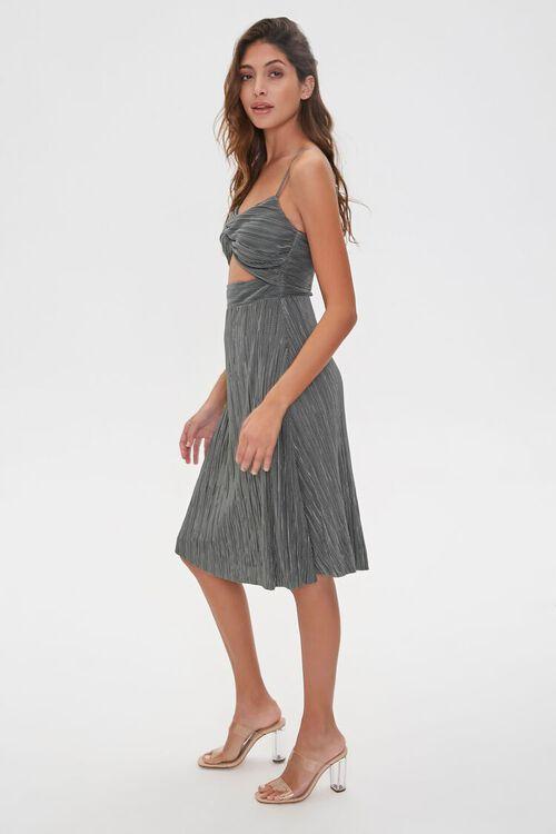 Pleated Cutout Cami Dress, image 3