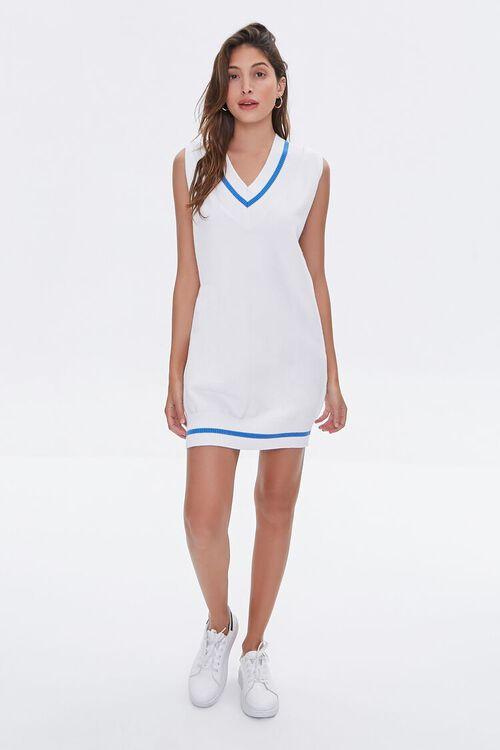 Striped-Trim Sweater Vest Dress, image 1