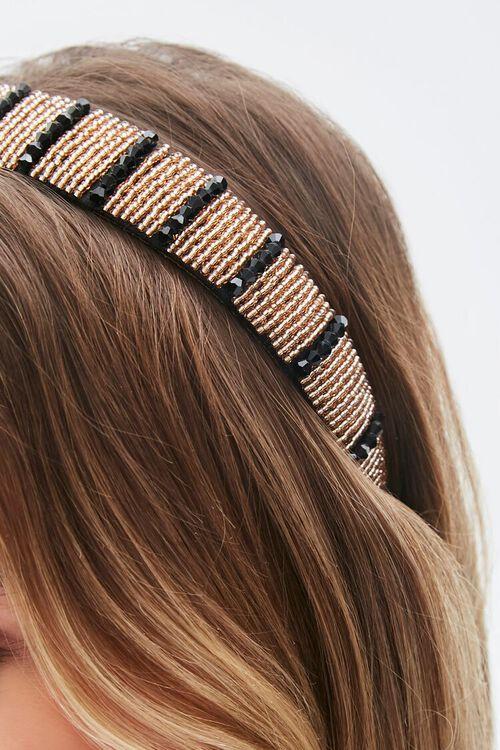 Striped Beaded Headband, image 2