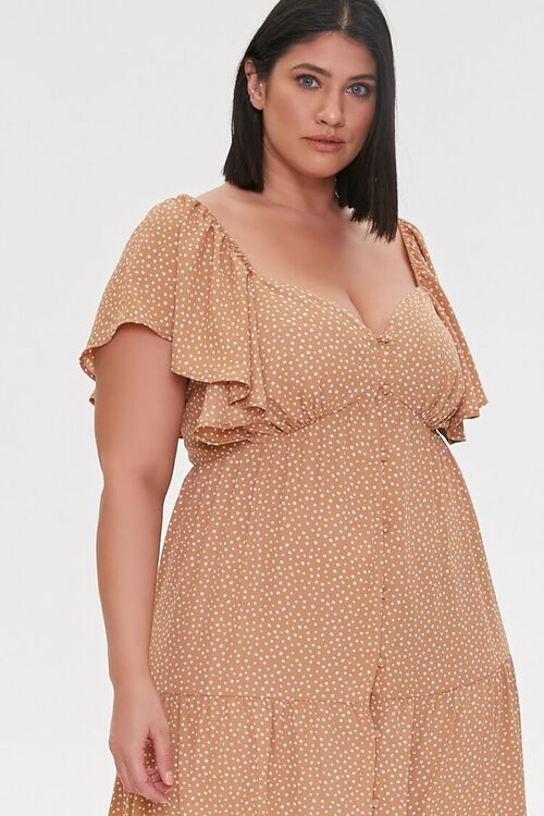 Plus Size Spotted Maxi Dress, image 4