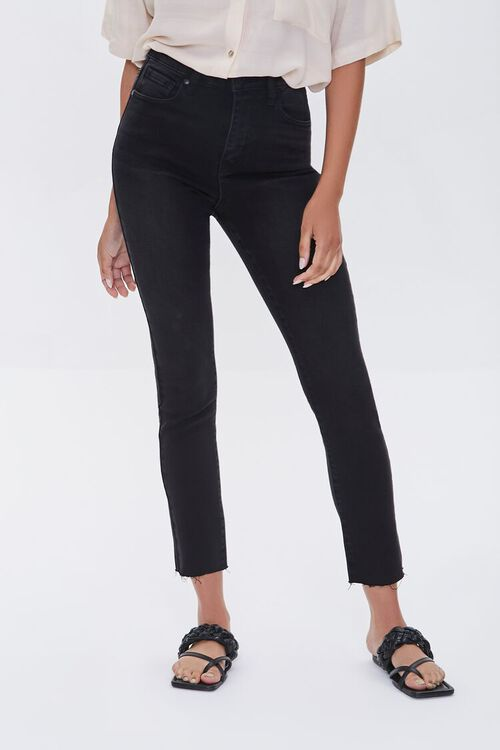 High-Rise Frayed Mom Jeans, image 2