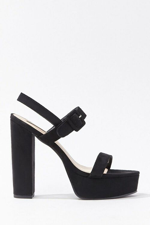 Faux Suede Ankle-Strap Platform Heels, image 2