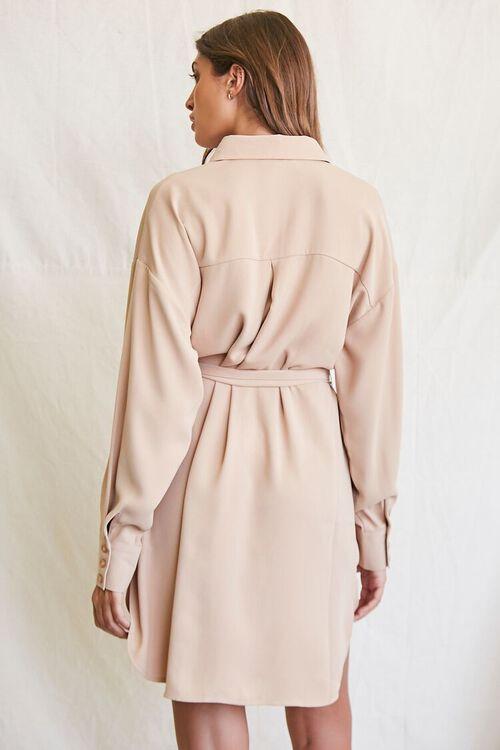 TAUPE Tie-Waist Shirt Dress, image 3