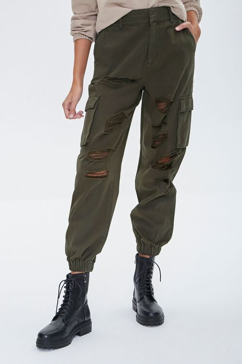Distressed Cargo Joggers, image 2