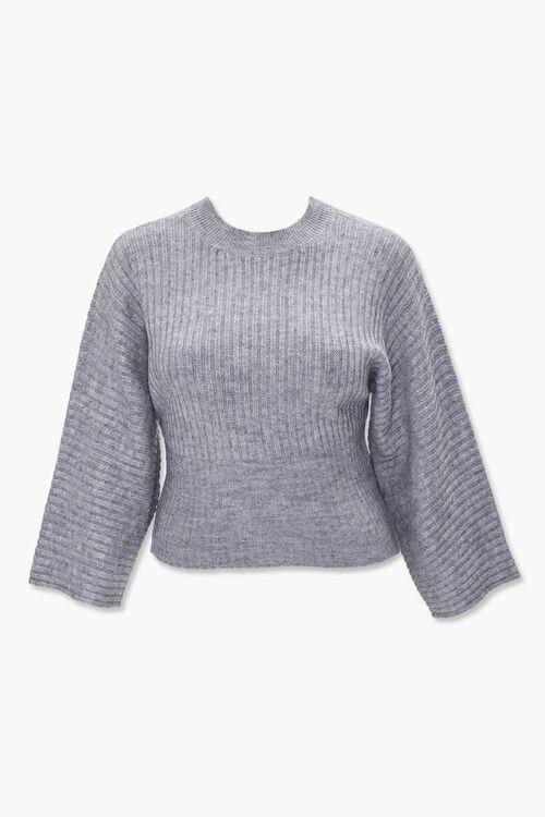 Plus Size Ribbed Mock Neck Sweater, image 1