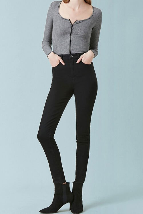 High-Waist Skinny Jeans, image 1