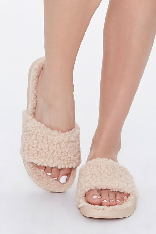 Faux Shearling Slippers, image 4