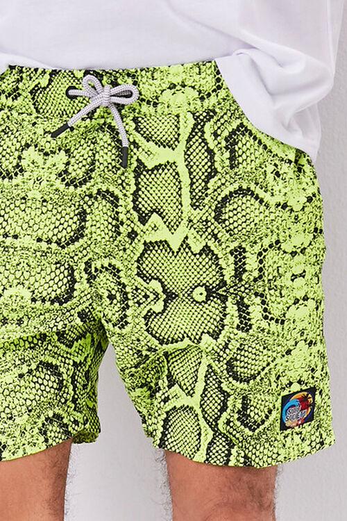 Snakeskin Print Swim Trunks, image 5