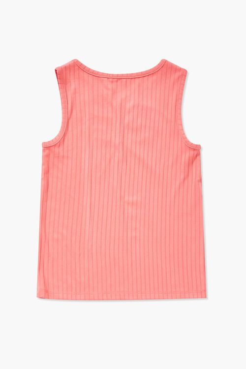 Girls Ribbed Ruched Tank Top (Kids), image 2