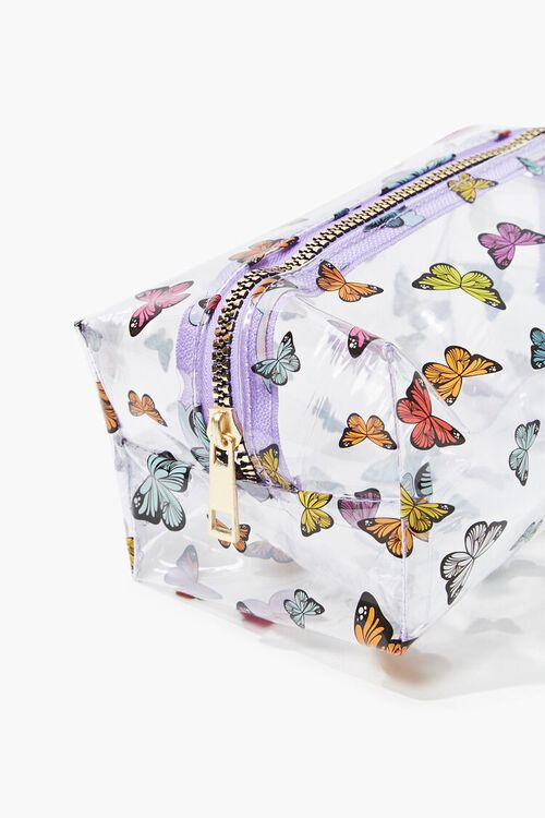 Butterfly Print Transparent Square Bag, image 3