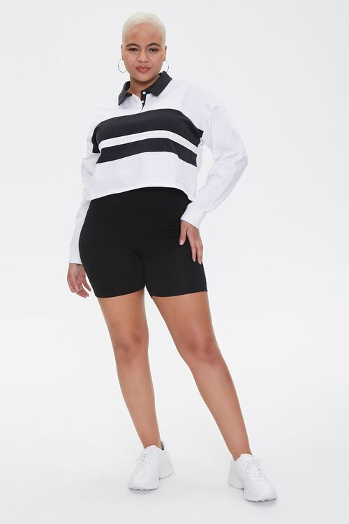 Plus Size Colorblock Rugby Tee, image 4