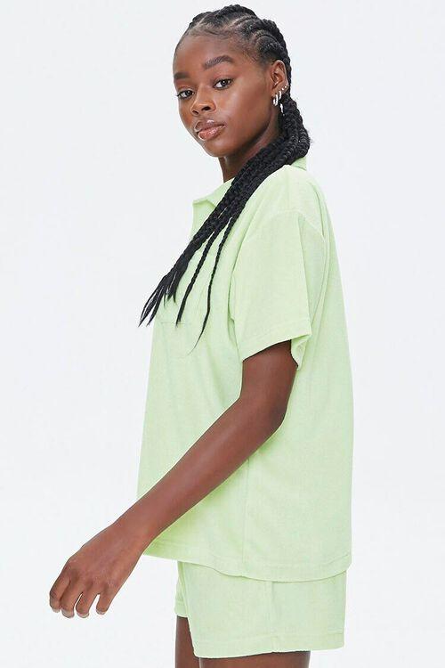 Terry Cloth Shirt & Shorts Set, image 2