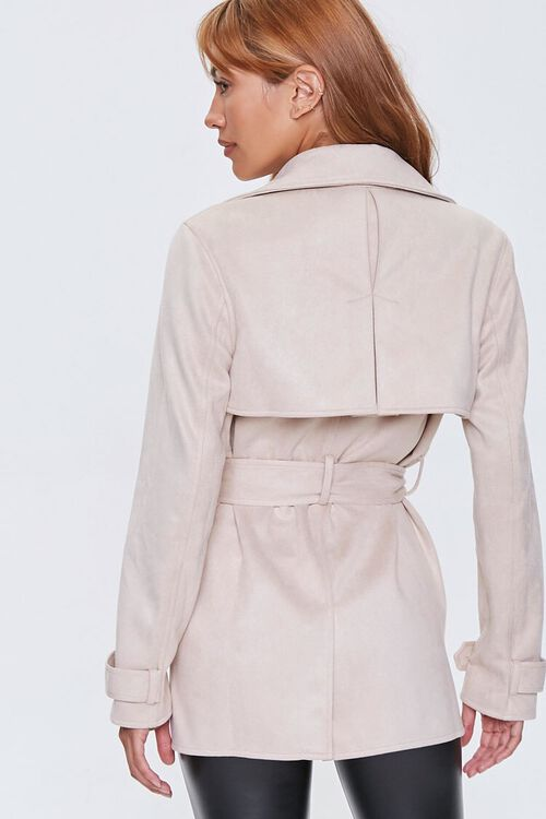 Faux Suede Double-Breasted Jacket, image 3