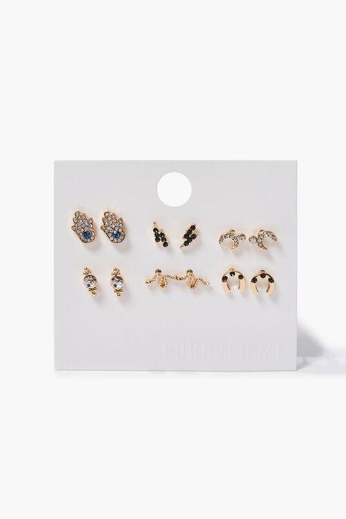 Rhinestone Stud Earring Set, image 1