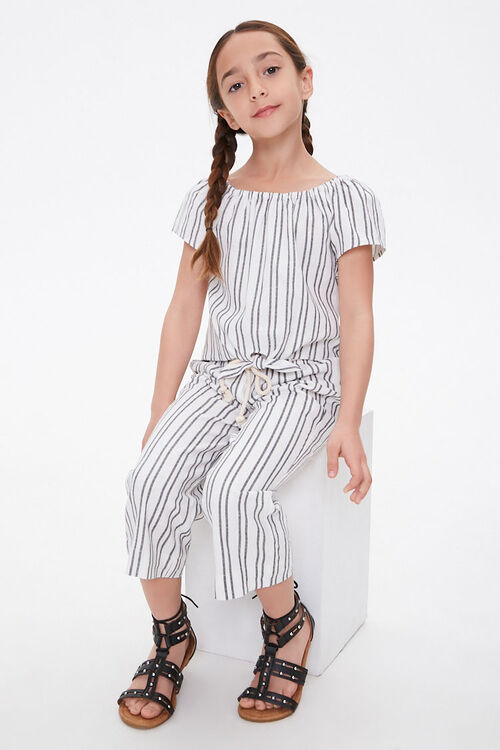 Girls Striped Self-Tie Top (Kids), image 3
