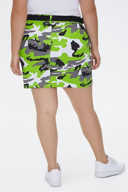 Plus Size Camo Print Mini Skirt, image 3