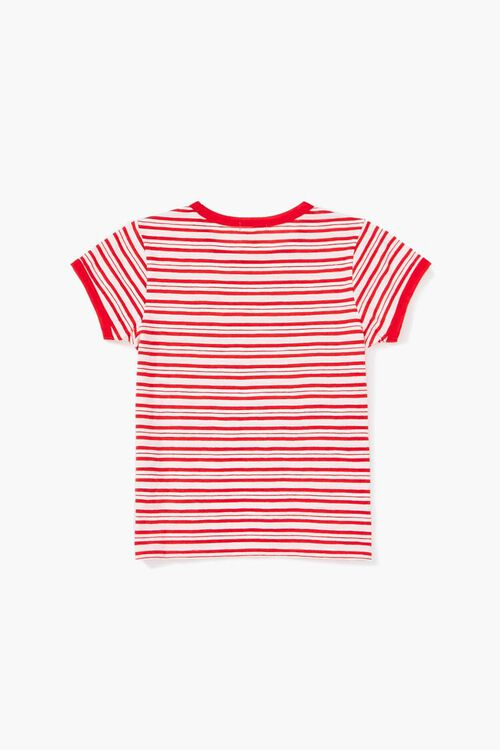Girls Striped Ringer Tee (Kids), image 2