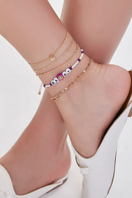 Beaded Baby Charm Anklet Set, image 1