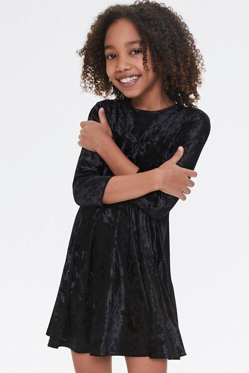 Girls Velvet Skater Dress (Kids), image 1
