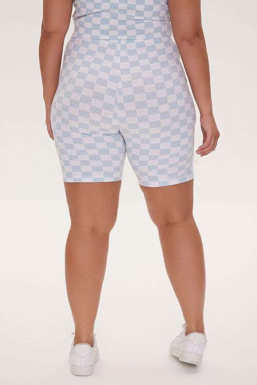 Plus Size Checkered Print Biker Shorts, image 4