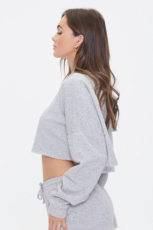 Hooded Heathered Pajama Top, image 2