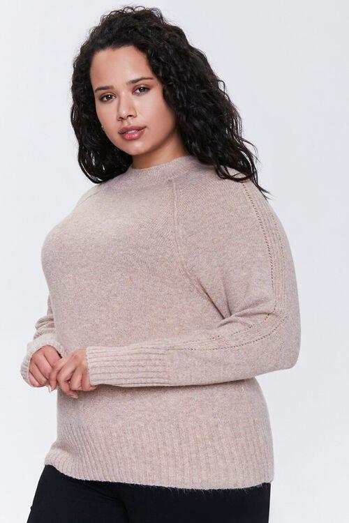 Plus Size Raglan Sweater, image 1
