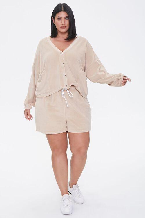 Plus Size Cardigan & Shorts Set, image 4