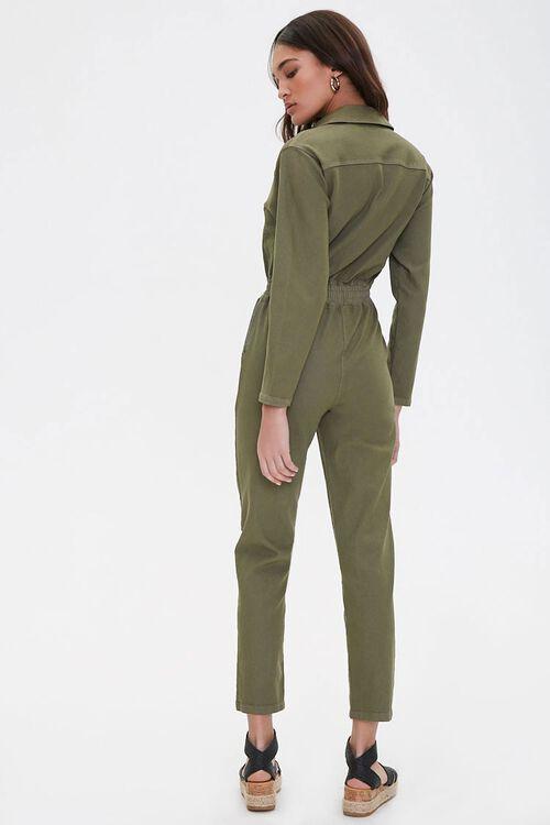 Zippered Denim Jumpsuit, image 3