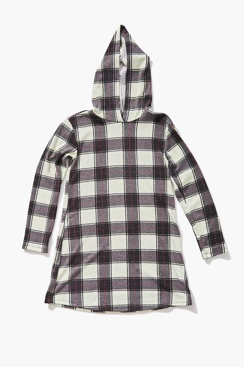 Girls Plaid Hooded Dress (Kids), image 1
