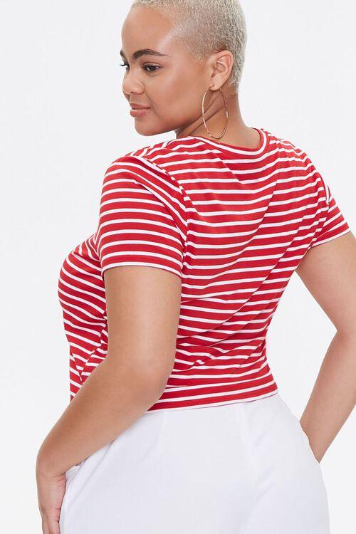 Plus Size Striped Romantique Tee, image 3