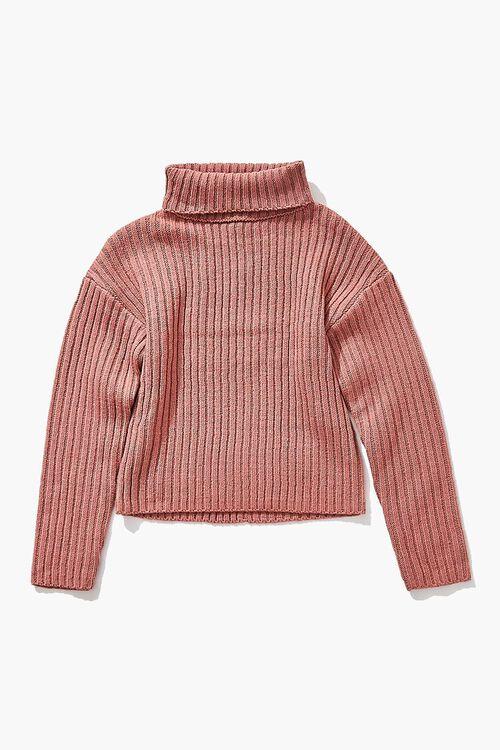 Girls Foldover Turtleneck Sweater (Kids), image 1