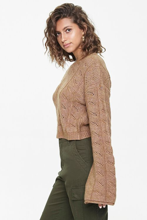 Cable Knit Drop-Sleeve Sweater, image 2